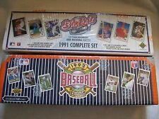 Upper Deck Baseball 1991 and 1992 Complete Sets