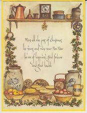 FINE Tasha Tudor Vintage Irene Dash Co Christmas Refurbished Card Still Life 2
