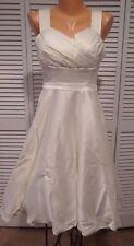 NWOT Women's Cast an Elegance Dress  Ivory Sz M A-Line Rockabilly Pin-Up Wedding