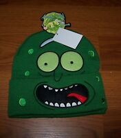 One Size Mens Adult Swim Rick And Morty  Winter Hat Beanie Bioworld Pickle Hat