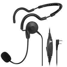 2 PIN PTT MIC Headphone Headset Earpc for Baofeng UV-5R Kenwood Wouxun Radio
