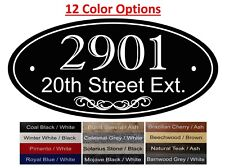 """4"""" x 8"""" Oval House Number & Address Sign, marble granite sign, wood sign-H"""