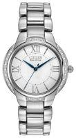 Citizen Eco-Drive Women's Diamond Accents Silver-Tone 35mm Watch EM0090-57A