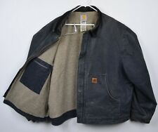Carhartt Men's Sz 3XL Dearborn Sandstone Sherpa Lined J164 Gray Work Jacket