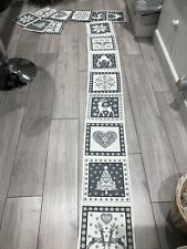 Handmade Nordic Christmas Table Runner With 8 Placemats