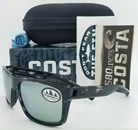 NEW Costa Slack Tide Ocearch Sunglasses Shiny Tiger Shark Silver 580G AUTHENTIC