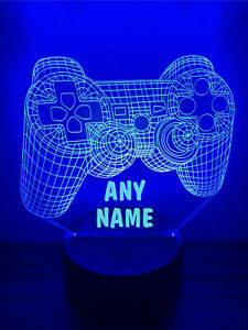 Personalised LED Multi Colour Gaming Gamer Night Light Sign - Any Name