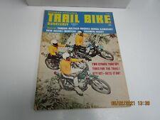 POPULAR CYCLING  TRAIL BIKE QUARTERLY SUMMER 1971 - TESTS