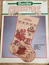 Bucilla Counted Cross Stitch Stocking Kit - Country Christmas