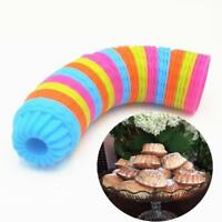 12pcs Silicone Cake Muffin Chocolate Cupcake Liner Baking Cup Cookie Mold shan
