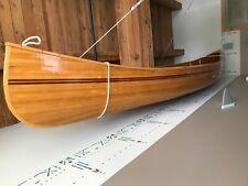 Cedar strip Wooden Canoe 16'  no ribs