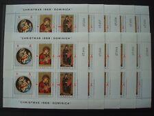 DOMINICA 1968 10 x BLOC CHRISTMAS MNH** COT 75 EUR / noel navidad