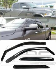 EOS Visor IN-CHANNEL Side Window Deflector For 09-Up Ram 1500 2500 3500 Crew Cab