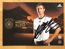 Miroslav Klose dünne AK DFB 2014 Gold Edition Autogrammkarte original signiert