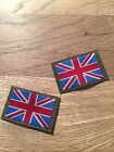 2 GENUINE ISSUE BRITISH ARMY, UNION JACK PATCHES - NEW