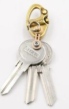 Bronze EDC Shackle Key Ring, Keychain Carabiner with Stainless Steel Bow Shackle