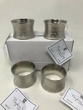 Classic Design Napkins Rings - Silver (Set of 4)