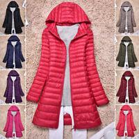 New Women's Ultra-light Duck Down Long Jacket Coat Lapel Slim Fit Warm Outerwear