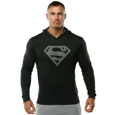 Men Gym Muscle Fit Bodybuilding Hoodies Workout Sweatshirt Pullover Athletic