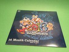 New Sealed Walt Disney World 16 Month Calendar 2015-2016 In original Packaging