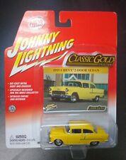 JOHNNY LIGHTNING - CLASSIC GOLD COLLECTION - 1955 CHEVY 2-DOOR SEDAN - DIECAST