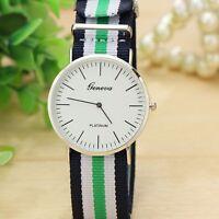 Montre Chic Classique Quartz Homme Femme Bracelet tissu Fashion Watch
