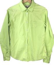 AMERICAN EAGLE shirt long sleeve button down green Women's size 8