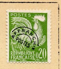 """FRANCE = 20c """"Cock"""" with Pre-Cancel. MH or Used (No Gum) Hinged to page. (c)"""