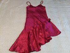 Vintage Victoria's Secret Night Gown Fushia Size Large Asymmetrical Hem Line