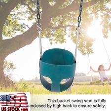 Children Kids Safe Full Bucket Swing Seat W. Chain Toddler Playseat Outdoor Toy