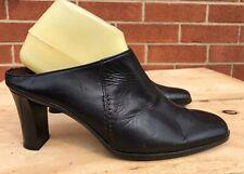 Sesto Meucci black Leather Mules Slides Heels women Size US 10