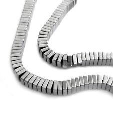 100 Métal Perles Hématite mini carrés 2,8x1mm Spacer Perles Nenad-Design an691