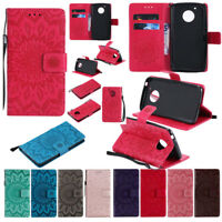 For Motorola Moto G5 G5s plus G6 plus 2018 Leather Wallet Card Slots Case Cover