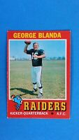 1971 TOPPS FOOTBALL #39 GEORGE BLANDA RAIDERS NRMT