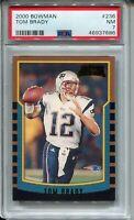 2000 Bowman Football #236 Tom Brady Rookie Card RC Graded PSA Nr Mint 7 Patriots