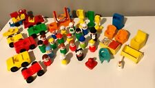 Vintage LOT Fisher Price Little People - 40 pieces People, Vehicles, Accessories