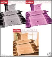 ✔ 2 tlg Bettwäsche Mikrofaser Fleece Kuschel Flausch 135x200 + 80x80 3 Farben ✔