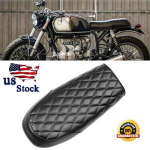 Motorcycle Cafe Racer Seat Flat & Hump Saddle For Honda CB Suzuki GS Yamaha RM9