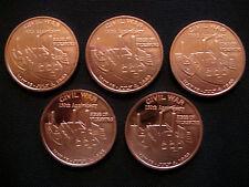 1 Ounce .999 Copper Round Civil War 1863 Siege of Vicksburg(5 Coins)