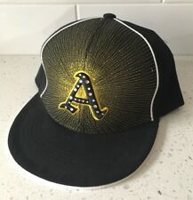 OAKLAND ATHLETICS XL Hat Cap Sequins Starburst Baseball Black MLB