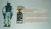 1988 GI Joe Shockwave v1 SWAT Team Police Specialist Figure w/ File Card