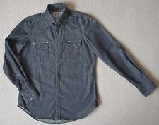 Replay denim shirt, S, western style, dark indigo, New NWOT