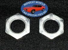 """Ford Mercury Dash Knob Radio Stem Shaft Retainer 3/8""""-32 Thread Nut Nuts 2pcs LJ"""