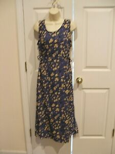 NWT Casual Corner Annex sleeveless  BLUE floral maxi dress size 4