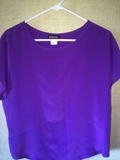 SEPARATE ISSUE WOMENS PURPLE fall BLOUSE CAREER CASUAL  SIZE medium med nwot