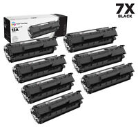 LD 7PK Comp Black Laser Toner Cartridge for HP 12A Q2612A LaserJet 3020 3030