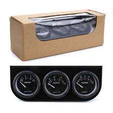 """Triple Gauge Kits 3In1 2"""" 52mm Auto Volt Meter+Oil Pressure+Oil temp Gauge Meter"""