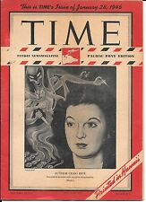Time Magazine Pacific Pony Edition. January 28, 1946. Author Craig Rice. WW2.