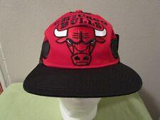Vintage Starter Jordan Era NBA Chicago Bulls Snapback Wave Hat Cap Red Black NWT