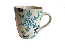 BLUE SNOWFLAKES / White Background Jumbo 24 oz. Coffee Cocoa Mug *BRAND NEW*